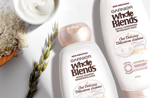 Garnier Whole Blands Oat Shampoo for Fine hair