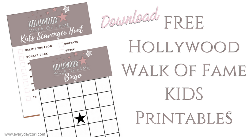 Download the Free Hollywood Walk of Fame Kids' Printable here