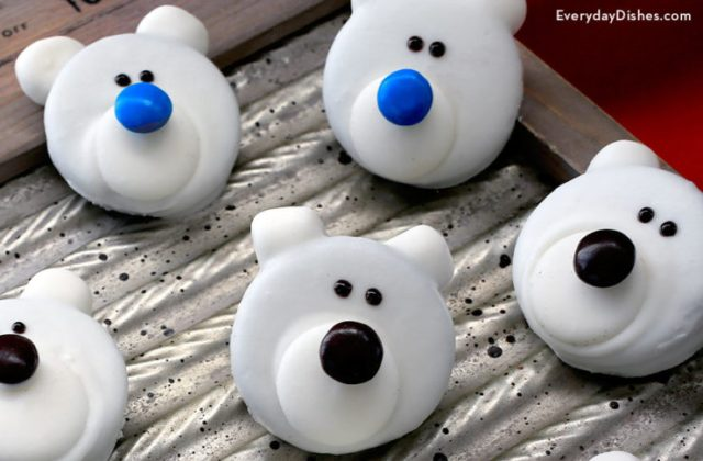 Polar bear cookies recipe for Christmas