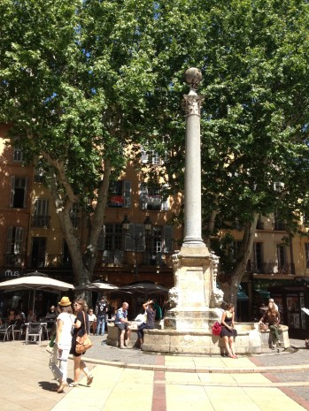 Around every corner in Aix there is a beautiful plaza to relax in...