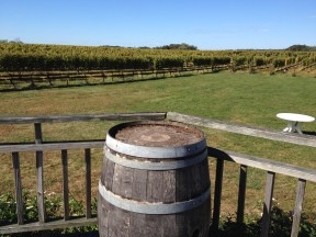 ...and the tasting deck overlooking the vineyard.
