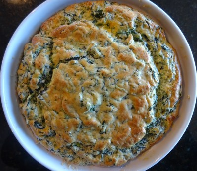 Ina's spinach and cheddar cheese soufflé