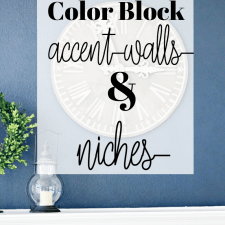 Navy Color Block  for Accent Walls