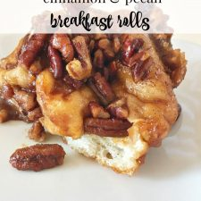 Overnight Cinnamon Pecan Breakfast Rolls