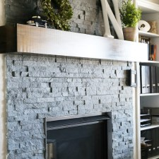 How to Update a Fireplace with Stacked Stone Panels