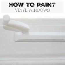 How to Paint Vinyl Windows