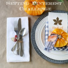 Thanksgiving Place Setting Pinterest Challenge
