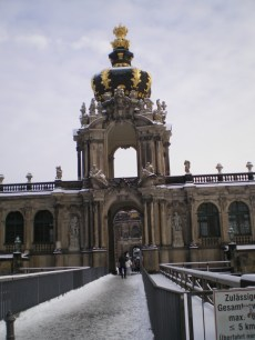 The beautiful Zwinger gallery.
