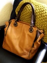 Cognac-coloured Handbag