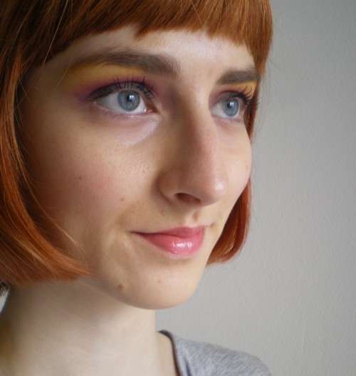 Colourful make-up