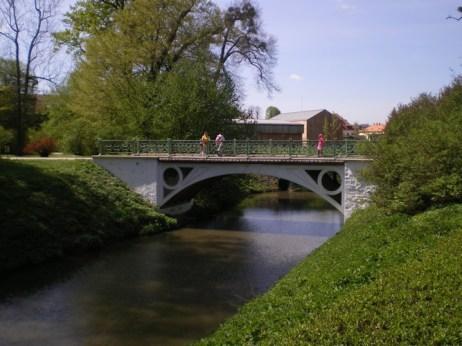 A bridge over a canal