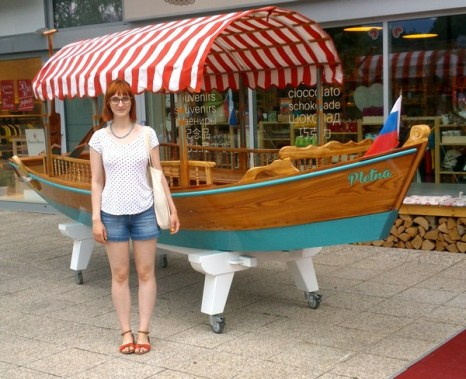 Pletna, the traditional boat on Lake Bled