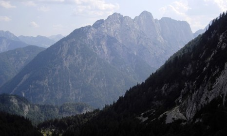 The view from Vršič mountain pass