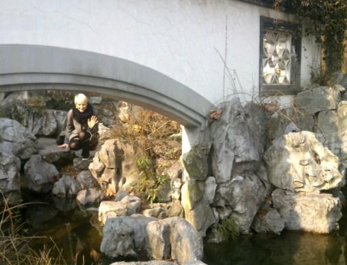 The Presidential Palace garden.