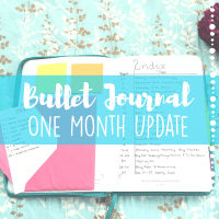Bullet Journal - One Month Update