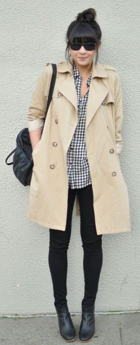 basic beige trench