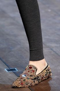 D&G jeweled flats