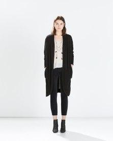 long coat dark grey zara