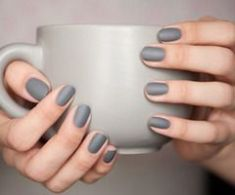 nail color grey