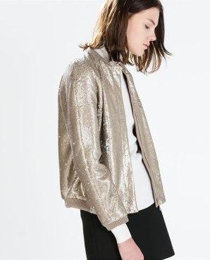 sequin jacket zara