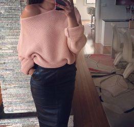 chunky sweater skirt
