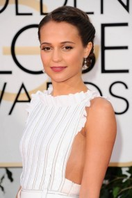 everydayfacts Golden Globes 2016 Alicia Vikander hair