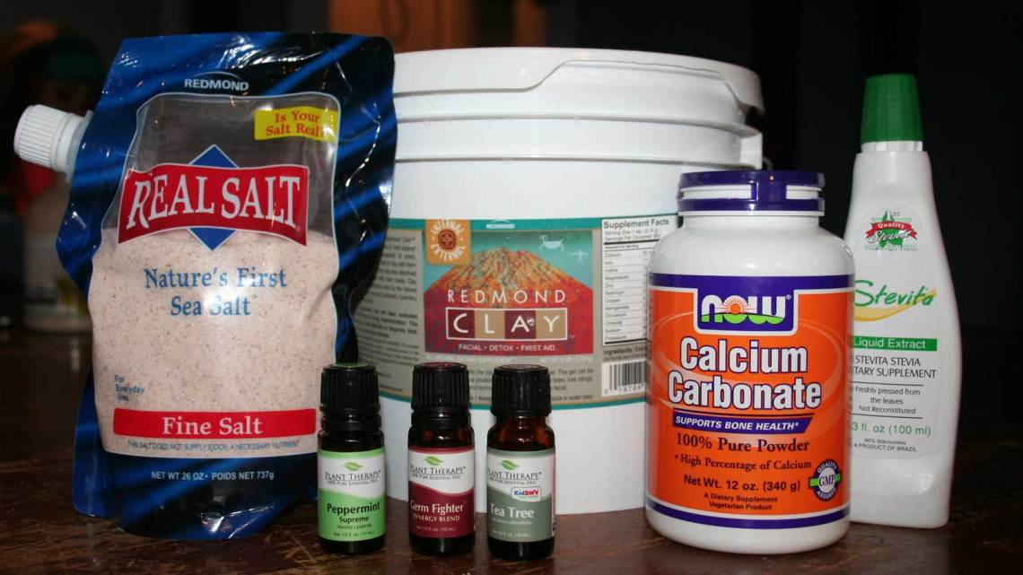 Bentonite Clay Toothpaste Recipe Ingredients