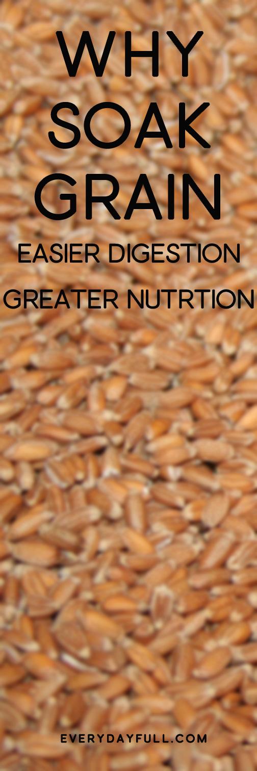 Grains up close for Why Soak Grain Pinterest pin