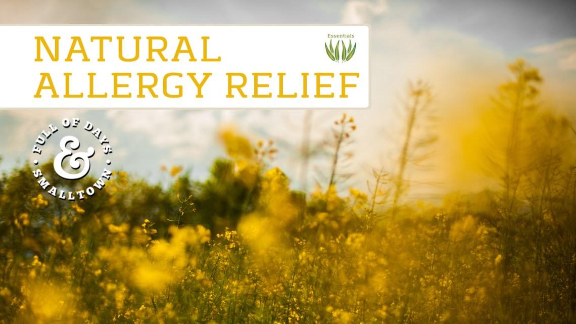 Essential Oils Natural Allergy Relief