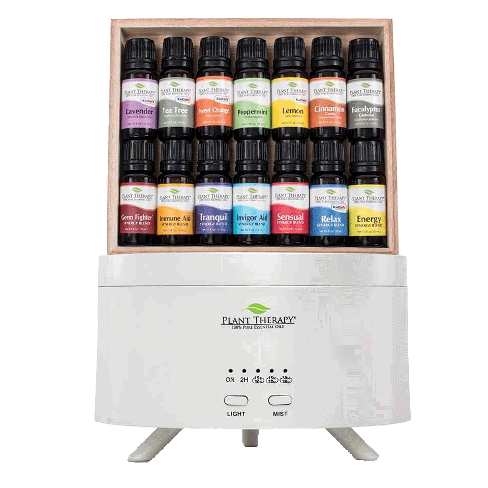 Plant Therapy 7 & 7 Set with Diffuser and 14 essential oils