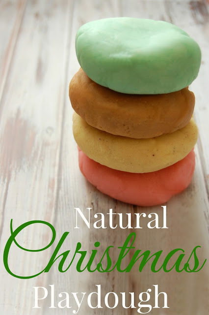 Natural Christmas Playdough