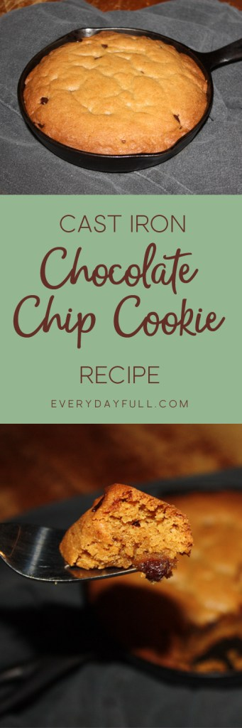 Cast Iron Skillet Chocolate Chip Cookie Dessert Recipe