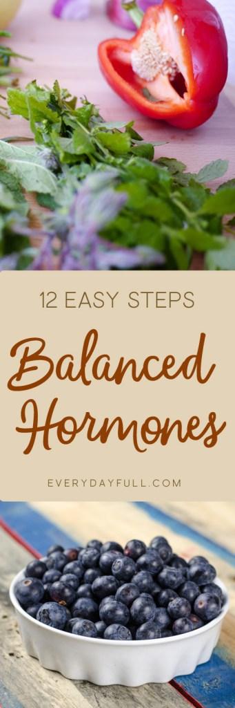 12 important steps to balance hormones