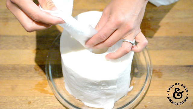 Homemade Baby Wipes, Pulling wipes from the roll.