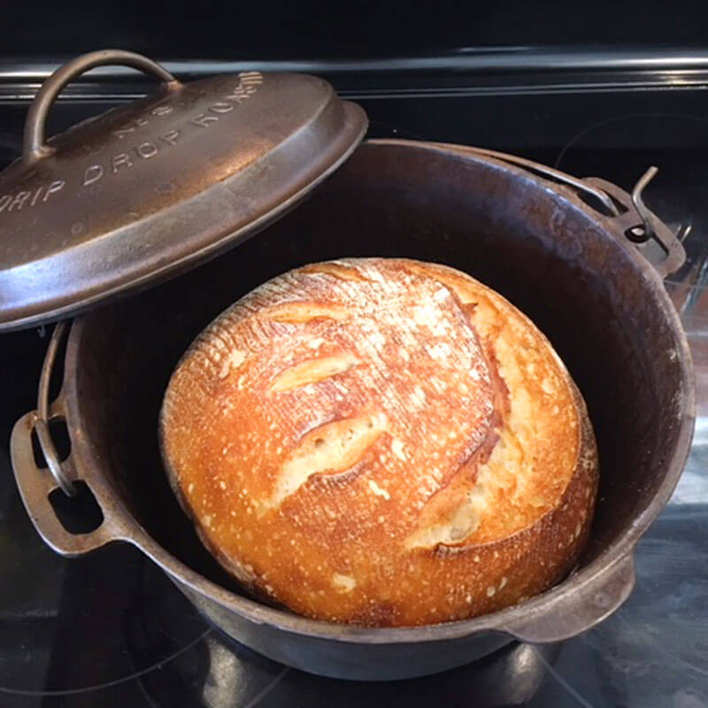 Once desired color is reached, remove bread from oven and transfer to cooling rack.