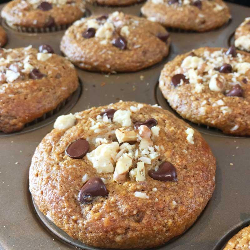 Gluten Free Paleo Pumkin Chocolate Chip Muffins