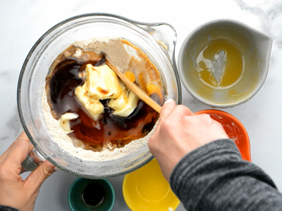homemade-graham-crackers-stirring-dough
