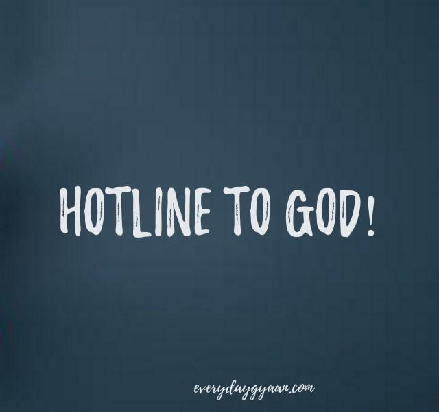 hotline to god