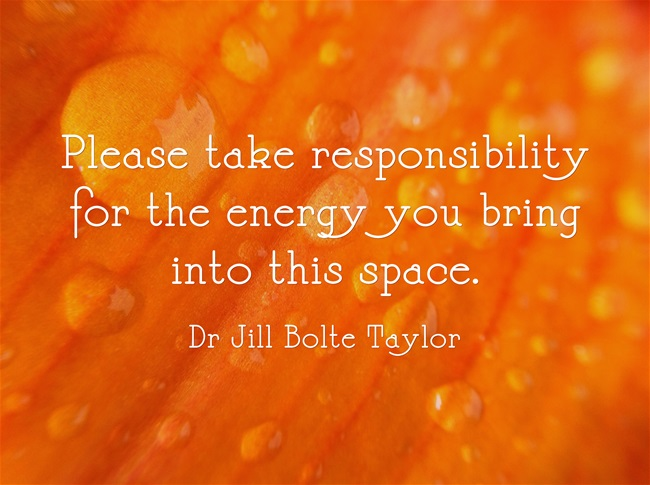 Taking Responsibility For Energy