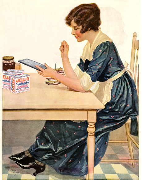 Kitchen Kindle Reader, after Norman Price
