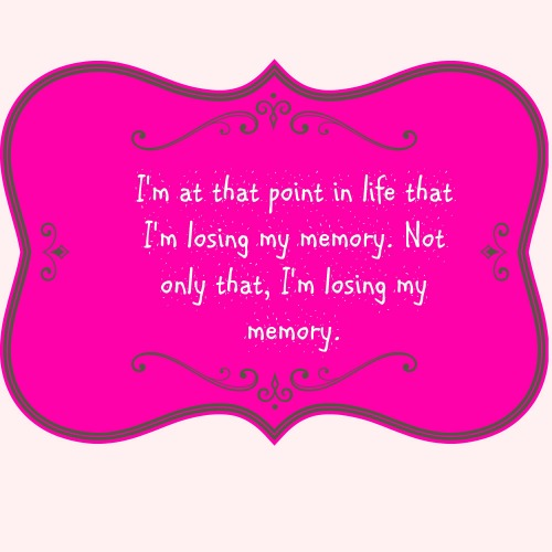 Midlife Means Losing My Memory?