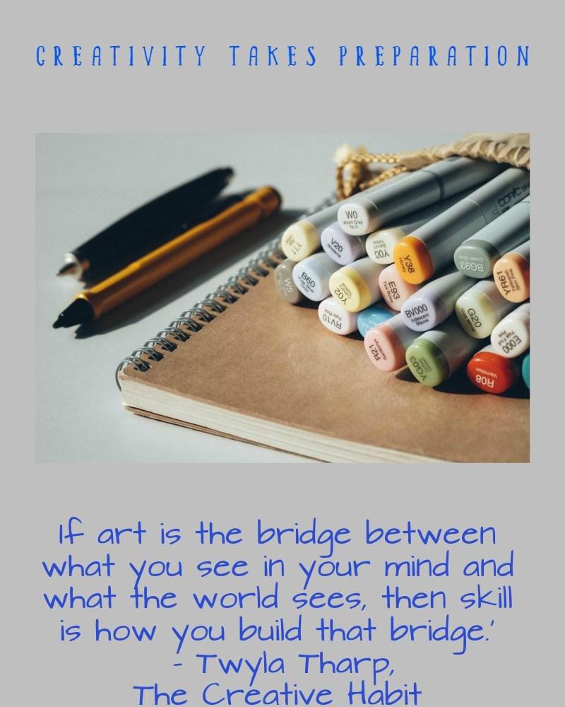 Creativity Takes Preparation