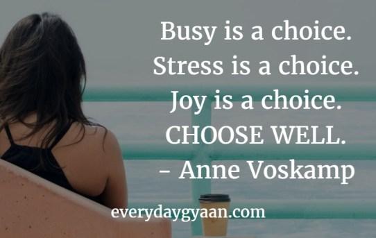 busy is a choice