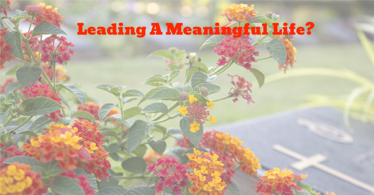 Leading A Meaningful Life