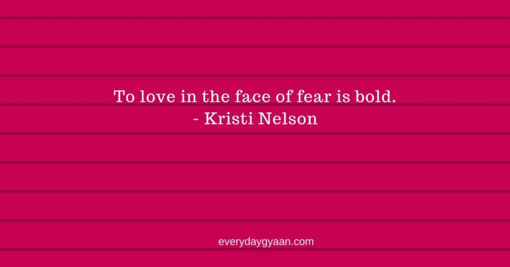 loving in the face of fear