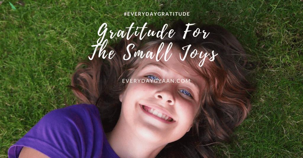 gratitude for the small joys