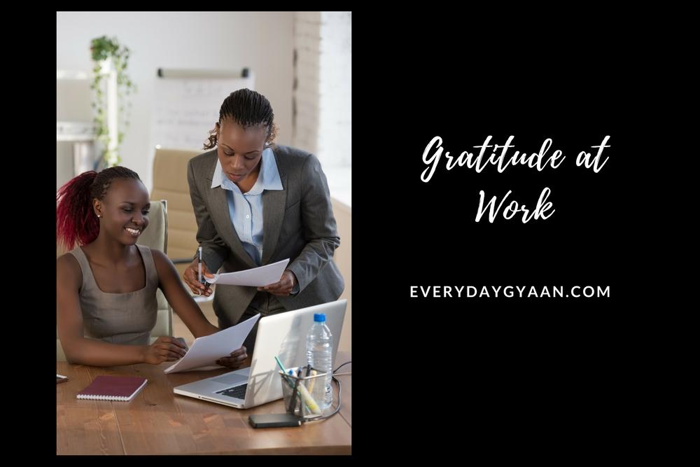 gratitude at work