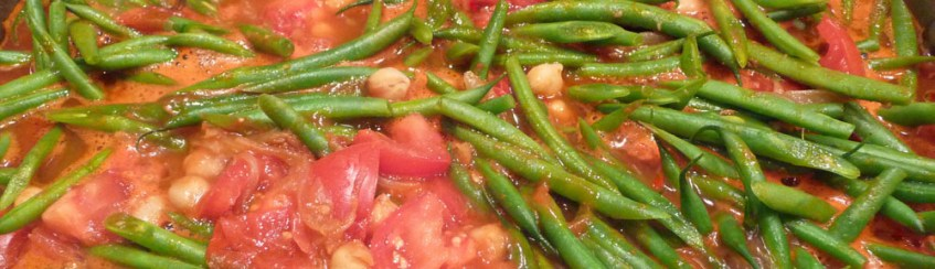 Long-Cooked Green Bean Stew after 15 minutes (c) jfhaugen