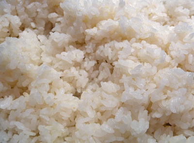 Cooked Sushi Rice with Seasoned Vinegar (c) jfhaugen