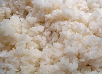 Cooked Sushi Rice with Seasoned Vinegar (c) jfhaugen